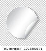 round paper sticker template... | Shutterstock .eps vector #1028550871