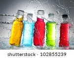 water splash out of glass | Shutterstock . vector #102855239