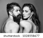 young naked couple of sexy... | Shutterstock . vector #1028558677