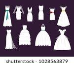 wedding white bride vector... | Shutterstock .eps vector #1028563879