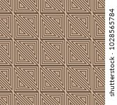 brown geometric ornament....   Shutterstock .eps vector #1028565784