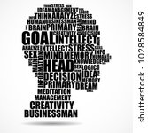 abstract silhouette human head... | Shutterstock .eps vector #1028584849