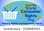 world consumer rights day theme....   Shutterstock .eps vector #1028585941