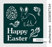 """stencil """"happy easter"""" with... 