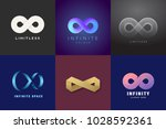 abstract vector infinity... | Shutterstock .eps vector #1028592361