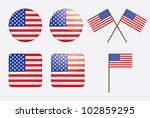 badges with united states flag... | Shutterstock . vector #102859295