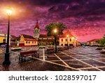 fantastic sunset over the... | Shutterstock . vector #1028597017