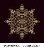 ornamental vector rosette on... | Shutterstock .eps vector #1028598214