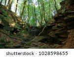 nibelungensteig  hiking trail  ... | Shutterstock . vector #1028598655