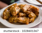 greek stuffed flowers of... | Shutterstock . vector #1028601367