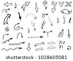 doodle hand drawn vector arrows | Shutterstock .eps vector #1028605081