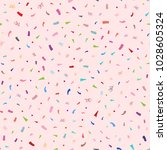colorful confetti on pink... | Shutterstock .eps vector #1028605324