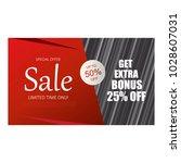 sale banner template design. | Shutterstock .eps vector #1028607031