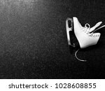 figure skate on the floor view... | Shutterstock . vector #1028608855