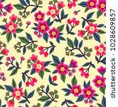 vintage floral background.... | Shutterstock .eps vector #1028609857