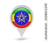 ethiopia flag round pin icon.... | Shutterstock .eps vector #1028611249