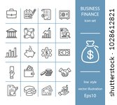 business and finance  set of... | Shutterstock .eps vector #1028612821