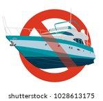 prohibition of motor boat.... | Shutterstock .eps vector #1028613175