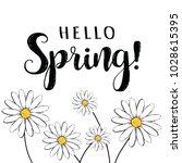 hello spring  hello spring... | Shutterstock .eps vector #1028615395