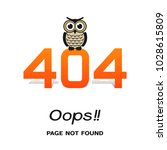 error 404 oops page not found.... | Shutterstock .eps vector #1028615809
