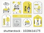 set of spring cards  tags ... | Shutterstock .eps vector #1028616175