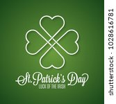 patricks day background | Shutterstock .eps vector #1028616781