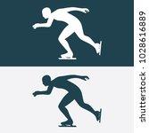 hand drawn speed ice skater... | Shutterstock .eps vector #1028616889