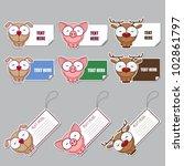 vector set of animal stickers... | Shutterstock .eps vector #102861797