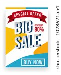 big sale flyer design template. ... | Shutterstock .eps vector #1028621554