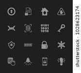 safety icons   gray symbol on... | Shutterstock .eps vector #1028623174