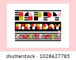 modern happy birthday awesome...   Shutterstock .eps vector #1028627785