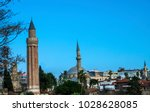 antalya mosques  old town view. | Shutterstock . vector #1028628085