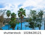 park view from antalya with... | Shutterstock . vector #1028628121