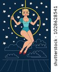 vintage circus illustrations... | Shutterstock .eps vector #1028628541