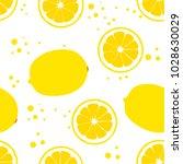 background with lemons. juicy... | Shutterstock .eps vector #1028630029