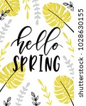 hello spring hand drawn... | Shutterstock .eps vector #1028630155