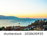 antalya ancient old town view. | Shutterstock . vector #1028630935