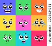 set of emoticons or emoji... | Shutterstock .eps vector #1028634151
