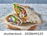 vegan food  tasty falafel wrap...