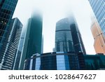 skyscrapers in the financial... | Shutterstock . vector #1028647627