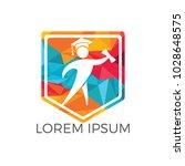 student shield logo design.... | Shutterstock .eps vector #1028648575