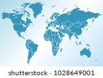 world map vector | Shutterstock .eps vector #1028649001