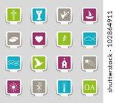 16 icons religion | Shutterstock .eps vector #102864911