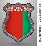 flag of belarus. vector badge... | Shutterstock .eps vector #1028650465