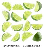 Collection Of 16 Isolated Lime...