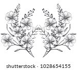 monochrome and rustic... | Shutterstock .eps vector #1028654155