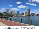 baltimore maryland inner harbor ... | Shutterstock . vector #102865637