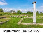 landscape with column and...   Shutterstock . vector #1028658829