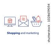 online shopping and marketing... | Shutterstock .eps vector #1028659054
