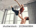 couple of ballet dancers posing ... | Shutterstock . vector #1028660884